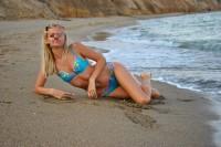 Русалка Эля на пляже
